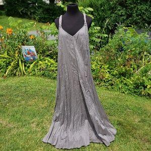 Garnet Hill crinkle cotton maxi dress